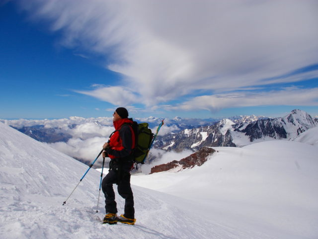 climb Kazbek and Elbrus